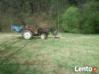 Koszenie traw mini-traktorkiem 4×4 kosiarką bijakową , glebo