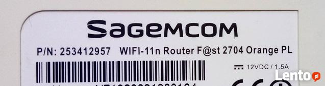 Router Sagemcom WiFi 11-n F@st 2704 Orange PL