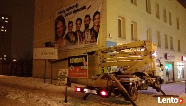 montaż reklam Katowice Sosnowiec Dąbrowa Górnicza Będzin