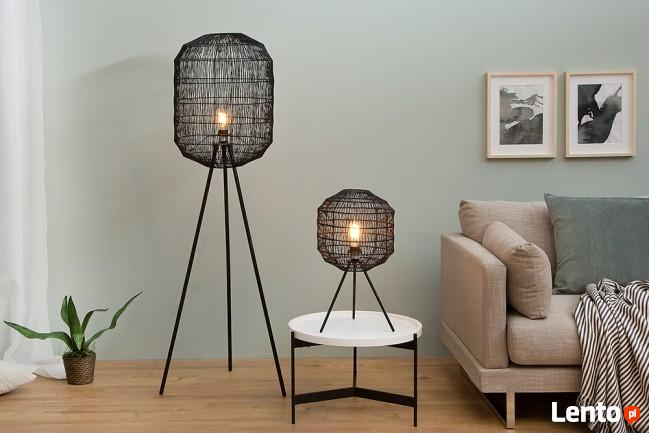 LAMPA CAGE black podłogowa 38163