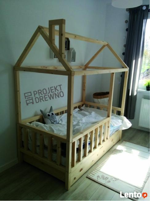 Łóżko domek w skandynawskim stylu