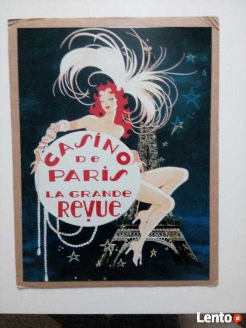 Obrazek szyld blaszany Casino de Paris prezent
