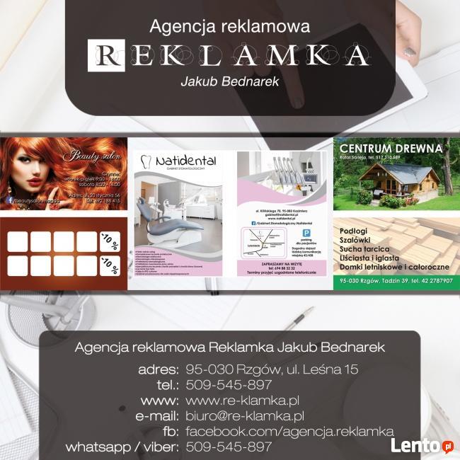 Usługi Reklamowe / poligrafia / wizytówki / ulotki / kalenda