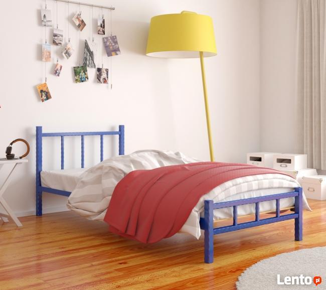 Łóżko metalowe młodzieżowe WZÓR 17 od Lak System