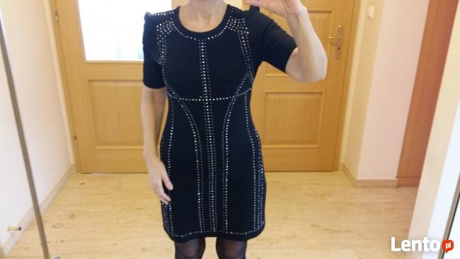 MONNARI suknia sukienka czarna z ćwiekami Glam Rock Style