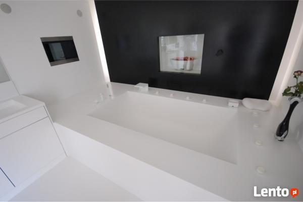 Wanny wolnostojące solid surface GFK Luxum na zamówienie