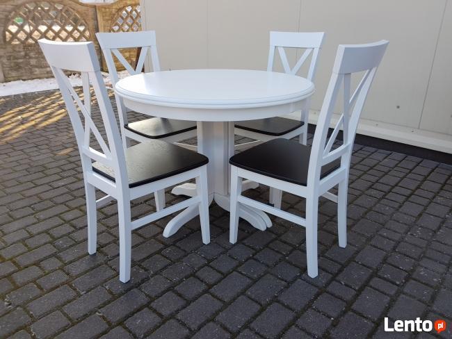 Zestaw biały prowansalski-stół 90 +4 krzesła Krzyż Producent