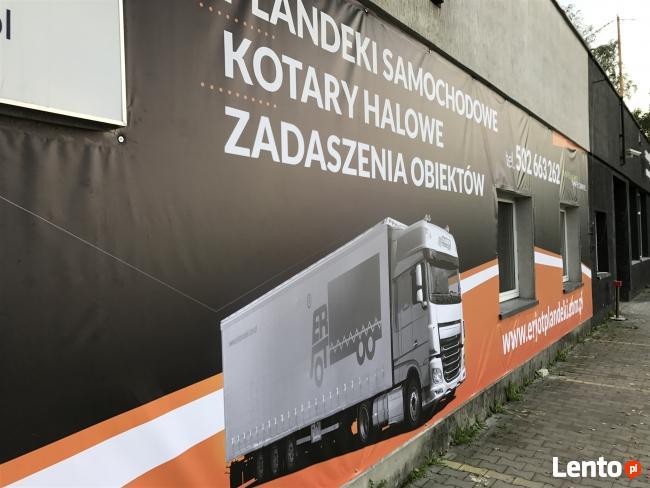 Okrycia banerowe na elewacje z reklama , banery reklamowe