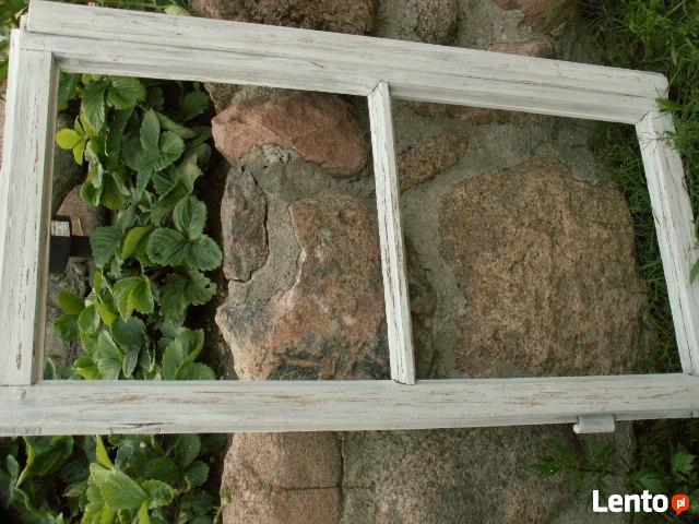 Stara rama okienna okno retro loft lustro, zdjęcia 90x48