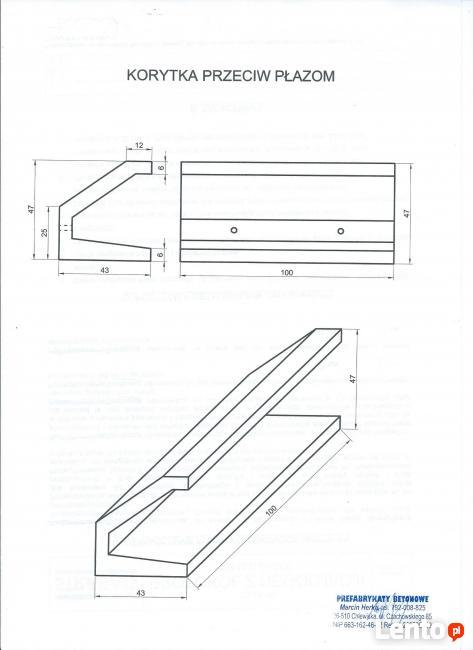 Płotki przeciw płazom z betonu typ C MARCIN HERKA