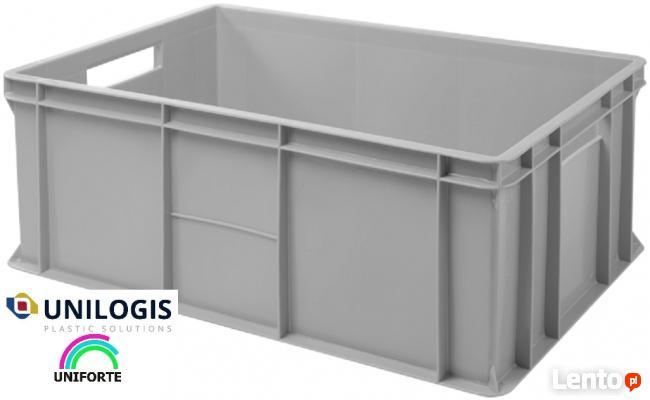Pojemniki skrzynki plastikowe magazynowe transportowe K-240
