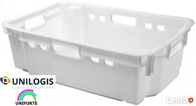 Pojemniki magazynowe skrzynki plastikowe B-180 na drób mięso