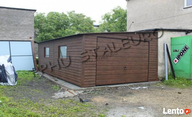 Ogromny Garaż garaże blaszane 4x7 Spad Na Bok + 2 Okna NR 22 Starachowice AS63
