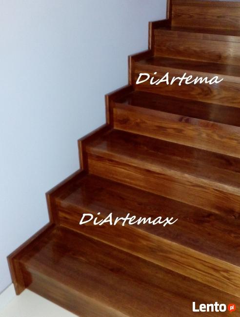 schody drewniane, samonośne, stopnie na beton, podstopnice