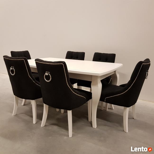 Krzesło chesterfield glamour pikowane z pinezkami i kołatką