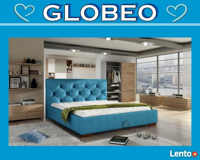 Archiwalne Globeo łóżko Sypialniane Tapicerowane Elektra