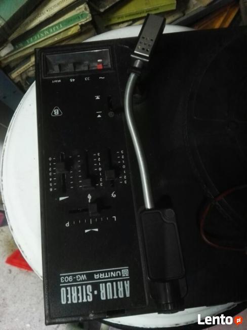 Gramofon Unitra Artur Stereo WG-903 PLUS DWA GŁOŚNIKI