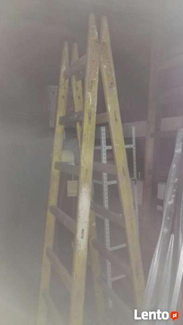 Drabina malarska drewniana 2,5m, szerokosc 73cm