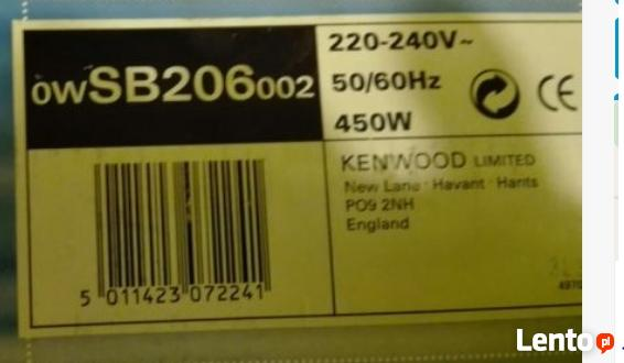 Blender do koktajli Kenwood SB206