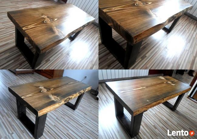 Stolik WENGE kawowy skandynawski ława drewniany