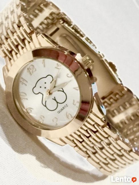 Archiwalne Zegarek na bransolecie Tous miś złoty srebrny HIT