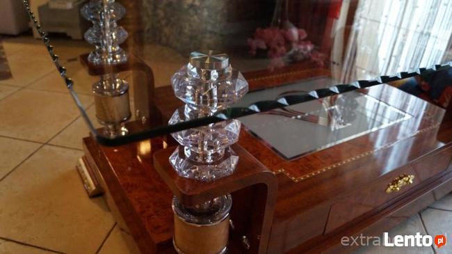 Stolik kawowy, ława dla Vip-a z szufladą i kryształowym blat