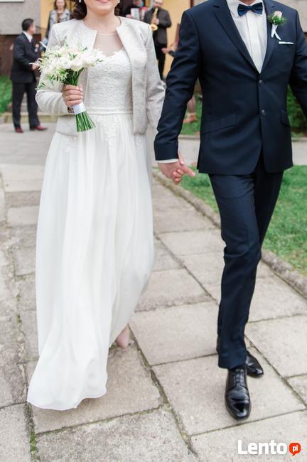 Piękna, zwiewna, muślinowa suknia ślubna -kolekcja BY OLA LA
