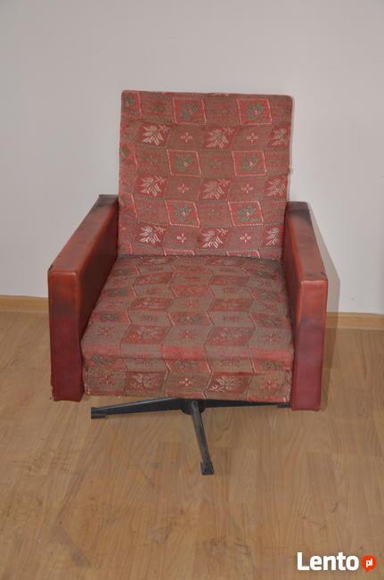 Fotel klubowy PRL, Loft,Meble PRL, Vintage, Krzesła, Komody