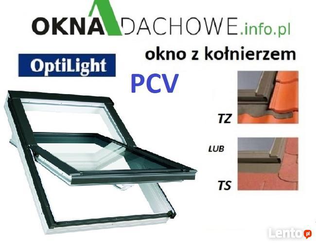 Okno dachowe OptiLight TLP 78x118cm PCV z kołnierzem TZ/TS C