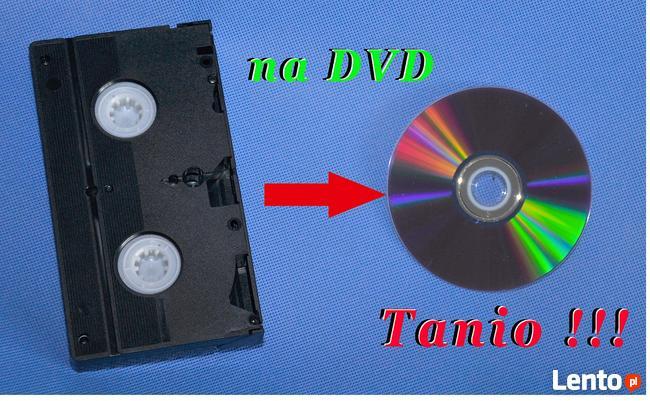 Tanie przegrywanie kaset VHS na płyty DVD - 15gr za minutę.