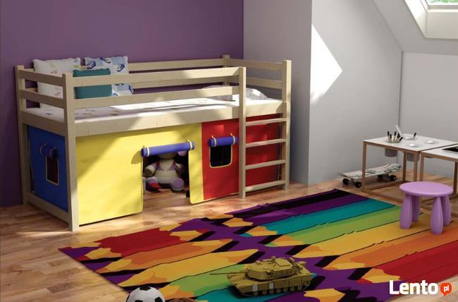 Super Bezpieczna antresola PORTOS masywne łóżka piętrowe