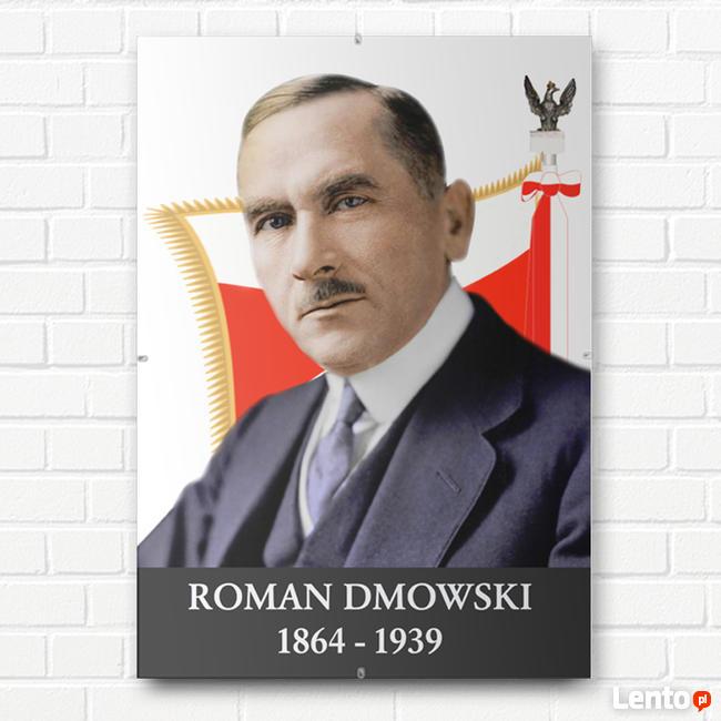 PORTRET ZDJĘCIE ROMAN DMOWSKI W ANTYRAMIE OBRAZ A4