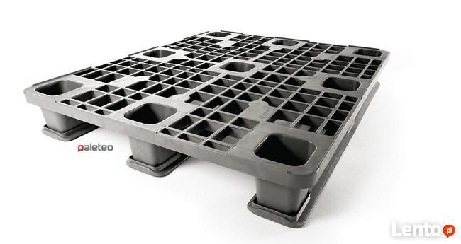 Przemysłowa paleta plastikowa 1200x1000 mm ażurowa na stopac