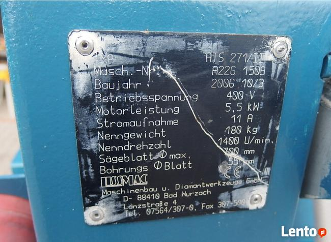 LISSMAC ATS 271 Piła przecinarka silka porotherm cegła