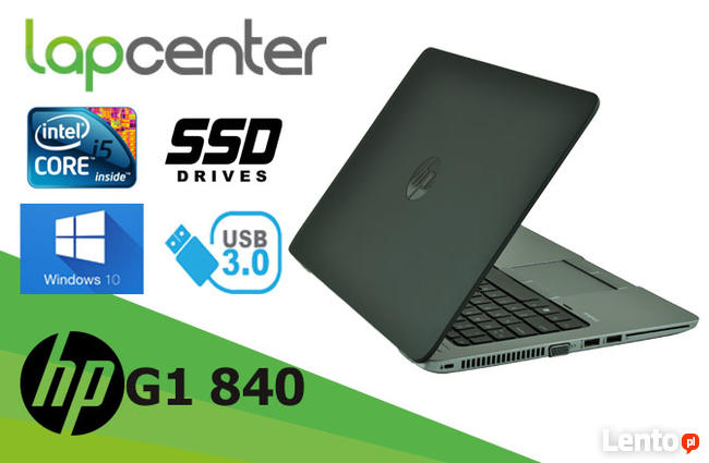 HP ELITEBOOK G1 840 I5-4GEN 8 GB RAM 180 GB SSD W10P
