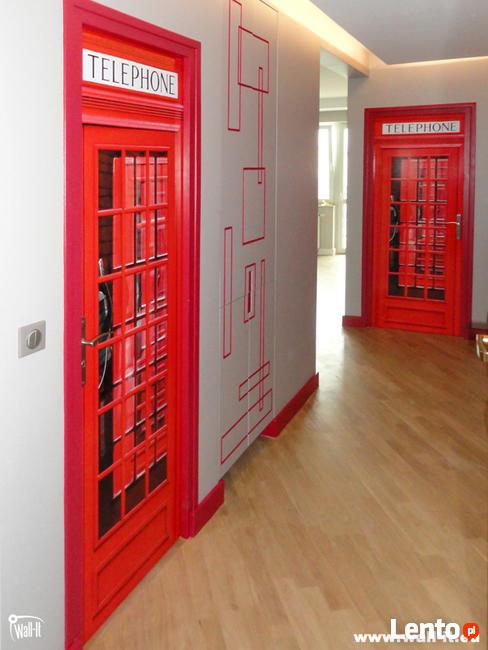 Fototapeta do szkoły angielska budka telefoniczna czerwona