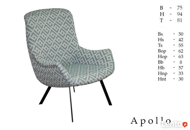 Nowosc oferuje fotel Apollo o wyzszym oparciu i nozkach meta