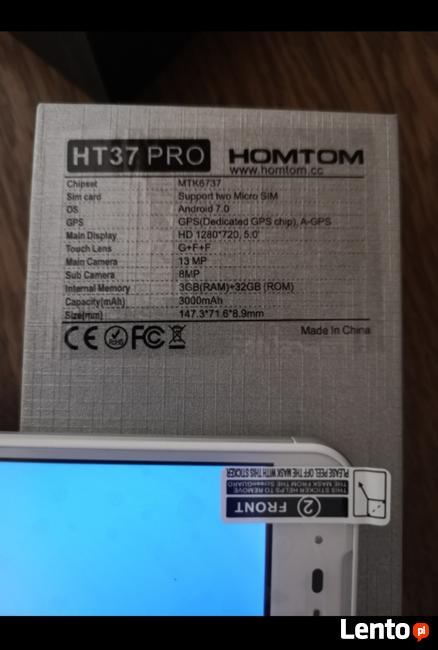Homtom HT37 pro 3/32 gb