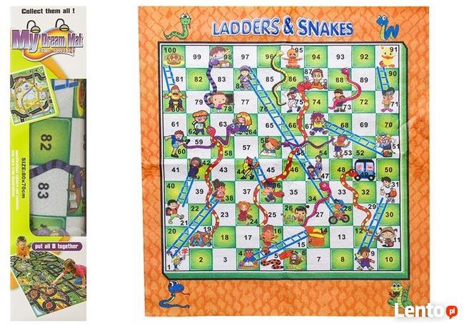 Mata Dywan Pokój Dziecięcy Szachy Węże i Drabiny