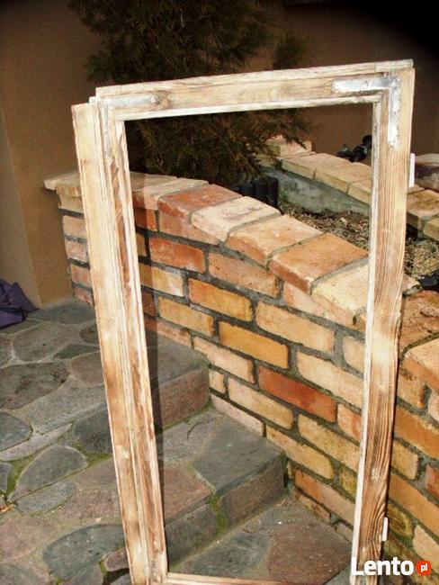 Stara okna drewniane retro loft lustro zdjęcia grill, 53x108