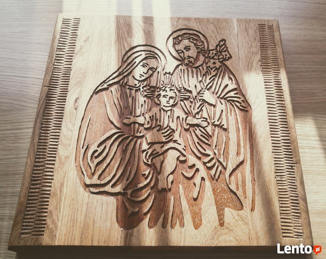 Święta Rodzina Płaskorzeźba