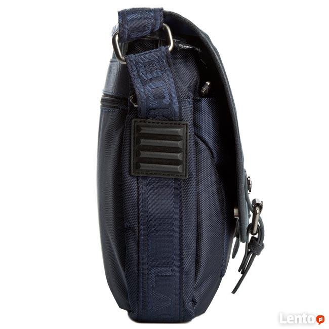 Granatowa torba na laptopa = LASOCKI RM0016 LASOCKI FOR MEN