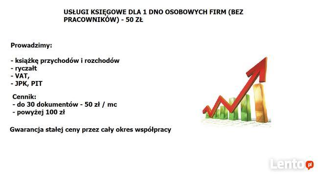 Usługi księgowe KPIR - Ryczałt - VAT - JPK - 50 zł