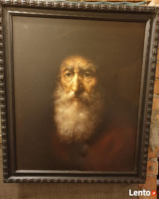 Portret Żyda - obraz olejny