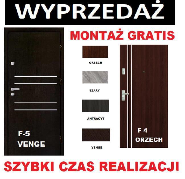 DRZWI wejściowe do mieszkania w bloku-zewnętrzne z montażem.