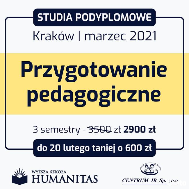 Studia podyplomowe Kraków - marzec 2021