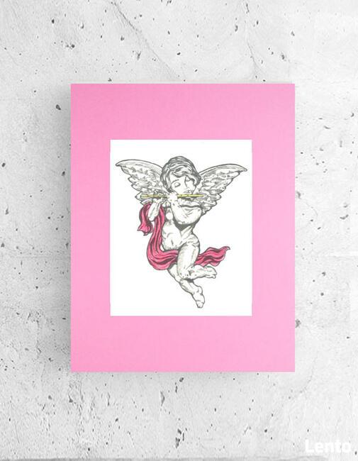 różowy plakat dla nastolatki