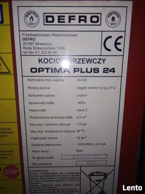 Akcesoria DEFRO OPTIMA PLUS 24 kW - rok prod. 2010