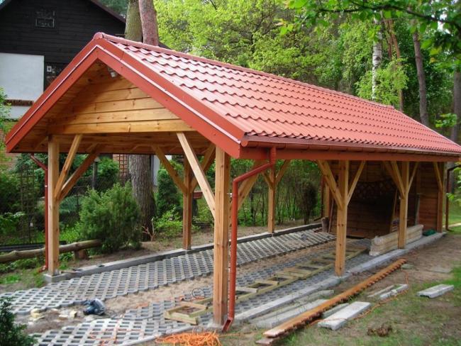 WIATA GARAŻOWA carport altana garaż drewutnia