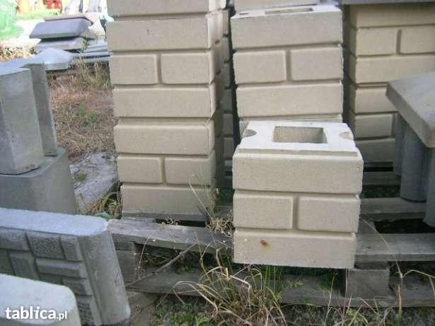 Bloczki ozdobne betonowe na słupki ogrodzenie podmurówki